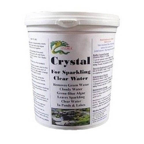 Control Pond Green Algae in your Water Garden Fish Pond by Hydra Crystal-28 oz by HYDRA. $32.95. 100% Biodegradable. Harmless on concrete and synthetic liners and to biological filters or pumps. Removes Green Water from ponds to give Crystal clear Water. No negative effect on water quality. Safe for humans, animals and aquatic life. Cannot see your fish? Troubled by murky green water in your garden pond? Hydra Crystal clears green water from ponds with external filter...