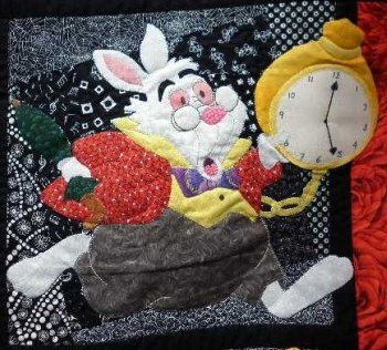 Alice quilt inspired by the animated movie of the classic and timeless fairy tale beloved by children for over a century.