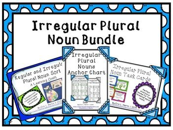 "Use this irregular plural noun bundle to introduce or review ""rule breaking"" plural nouns. The bundle includes the following products:* Irregular Plural Noun Anchor Chart* Irregular Plural Noun Task Cards* Regular and Irregular Plural Noun Learning CraftUse all three to boost your grammar curriculum."