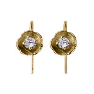 Afrodite drop earring - handmade 18kt and diamond drop earrings from NOMAD jewellery & accessories on Jewelstreet