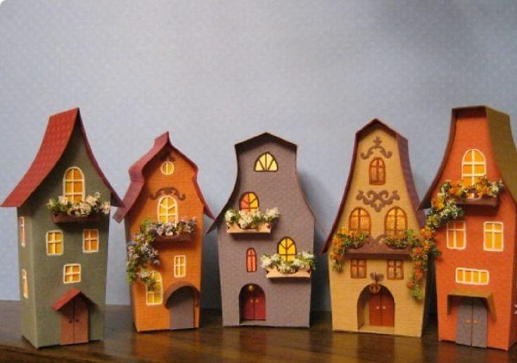 Картинки по запросу домик из бумаги своими руками шаблоны