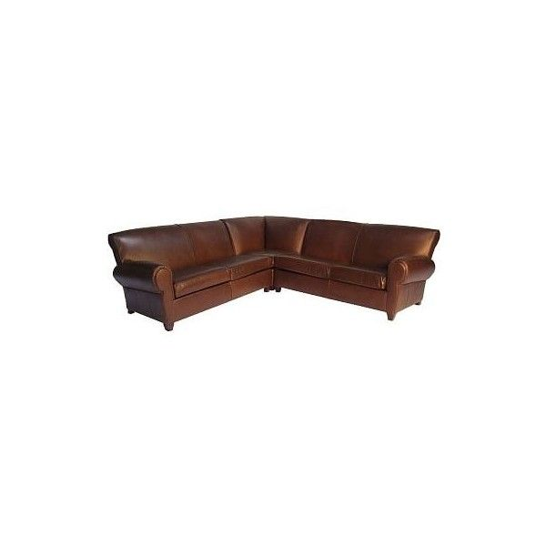 Pottery Barn Manhattan Leather Upholstered 3-Piece L-Shaped Corner... (301,630 PHP) ❤ liked on Polyvore featuring home, furniture, sofas, pottery barn love seat, pottery barn loveseat, pottery barn sofa, pottery barn sectional and pottery barn