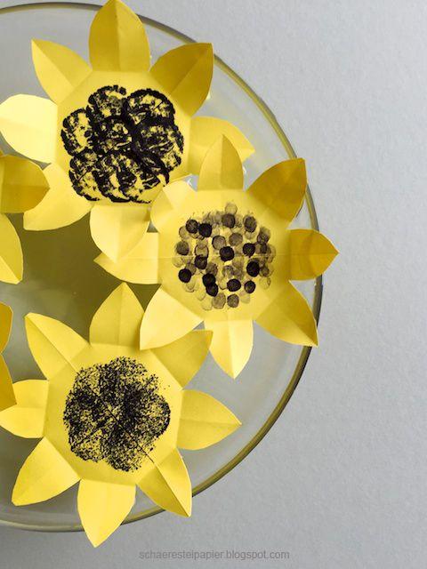 """DIY: Papier - Sonnenblumen - die zauberhafte Variante - """"Magic Flower"""" oder auch """"chinesische Wunderblume"""" -  by schaeresteipapier:"""