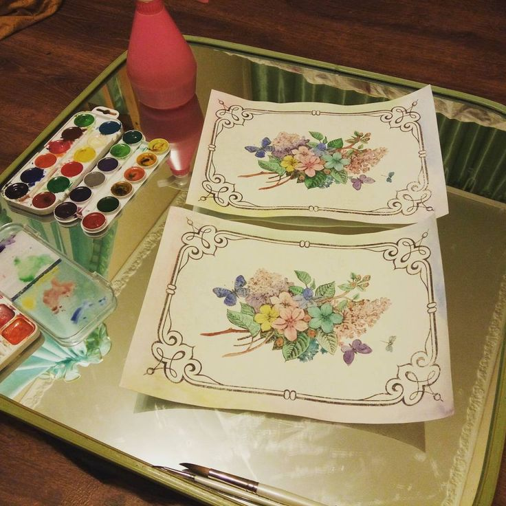 Что делают молодые мамы в пятницу вечером?)) Я наслаждаюсь творчеством)) #творческий процесс #акварель #художник #мастерская #вдохновение #весна #watercolor  #inspiration #art #artproject #spring #flowers #fridaynight #yanasworkshop