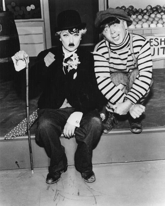Lucille Ball And Mickey Rooney Doing A Skit From The Lucy Show