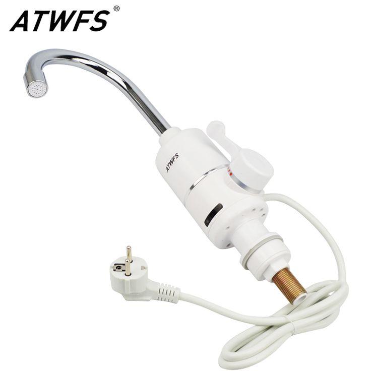 Atwfs más nuevo 3000 w 220 v calentador de agua sin tanque calentador de agua del grifo de la cocina del grifo de calefacción instantánea calentador de agua del grifo
