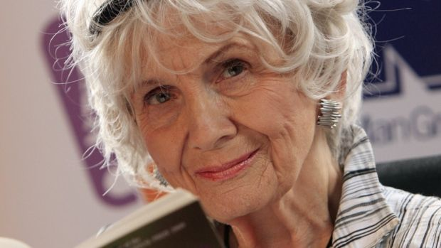 "Alice Munro is 1st Canadian woman to win Nobel literature prize  (CBC News 10 October 2013) ""I'm particularly glad that winning this award will please so many Canadians.  I'm happy too that this will bring more attention to Canadian writing."" - Alice Munro, Ontario-born Nobel Prize in Literature winner"