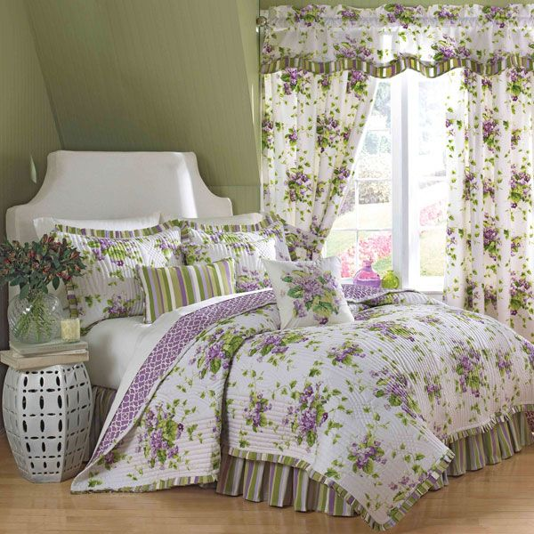 37 best Bedrooms & Bedding images on Pinterest | Bed sets, 3/4 ... : waverly sweet violets quilt set - Adamdwight.com