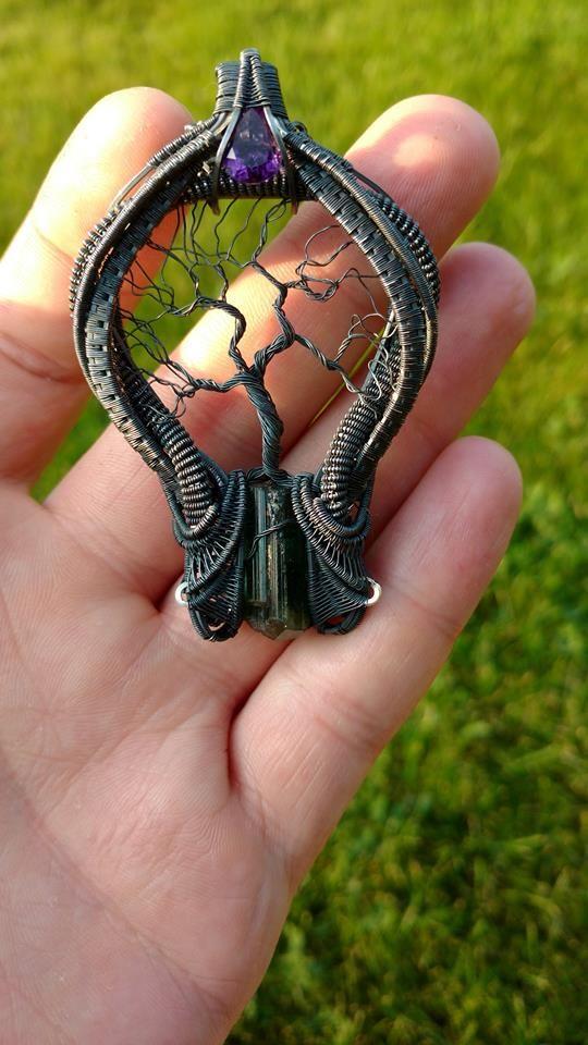 Interesting tree of life wire pendant