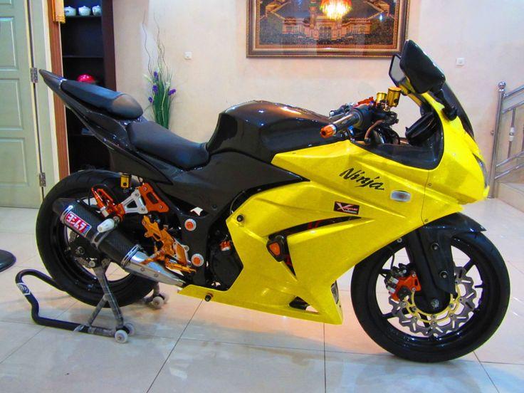 modifikasi motor kawasaki ninja 250 warna kuning