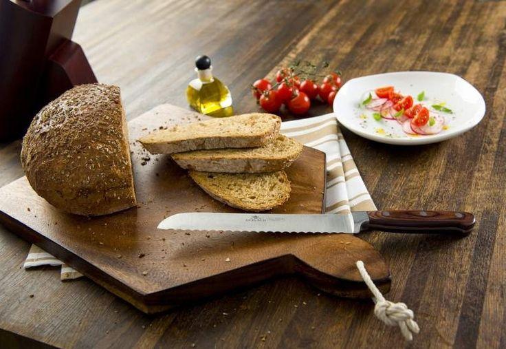 Gerlach Provence 961A - komplet 5 noży kuchennych w bloku. Pomysł na prezent. Nowoczesna kuchnia. Gotowanie. Śniadanie, chleb