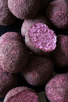 Dessert Recipe: Purple Sweet Potato Balls #vegan #recipes #healthy #plantbased #glutenfree #whatveganseat #dessert #rawfood