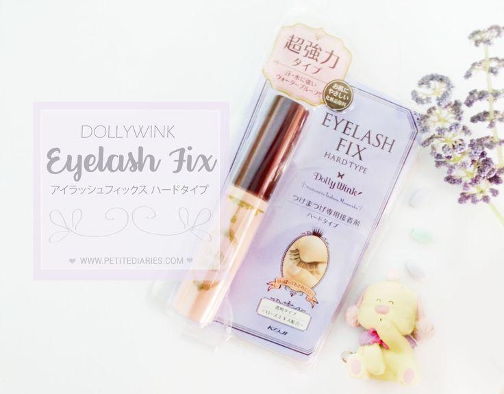 Koji Dollywink eyelash Fix hard Type Review : http://www.petitediaries.com/2016/12/review-koji-dollywink-eyelash-fix-hard.html - #tsubasamasuwaka #dollywink #kojihonpo #japanesebeauty #falselashes #eyelashglue