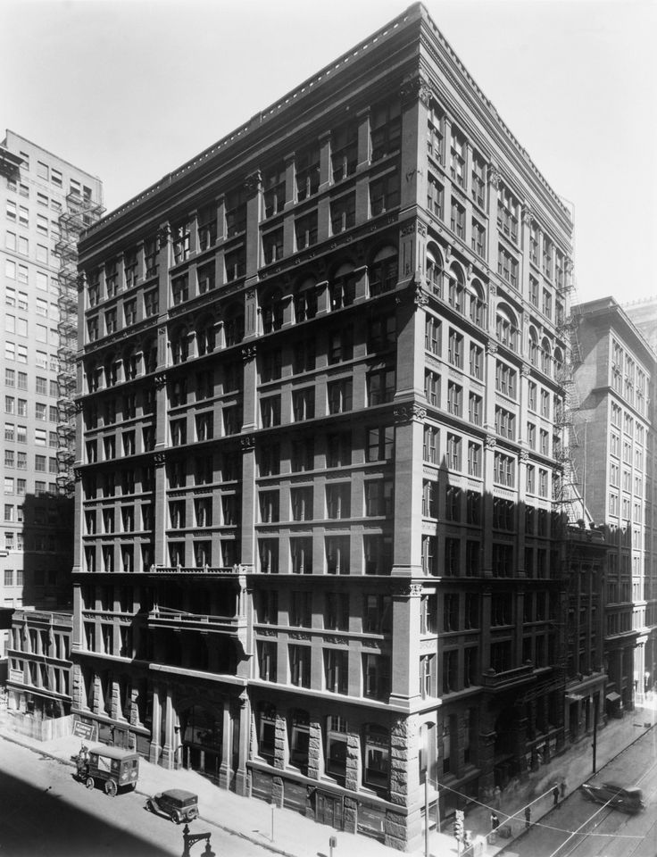 Home Insurance Building (1885) - William Le Baron Jenney - The world's first skyscraper. | A history of cities in 50 buildings | The Guardian. 231 S Lasalle St, Chicago, IL 60604, EE. UU.