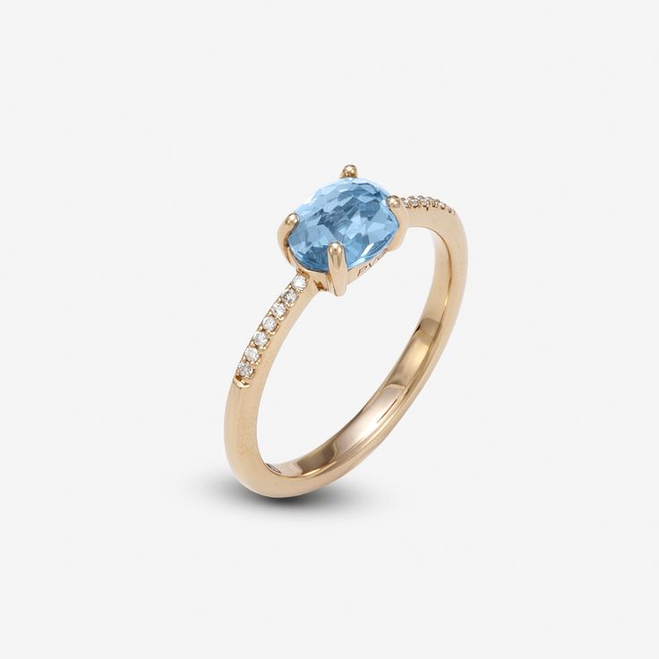 ring pink gold sky topaz and diamonds