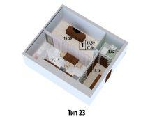 Тип планировки: №23 квартиры на ул. Оксамытовая, 20-В