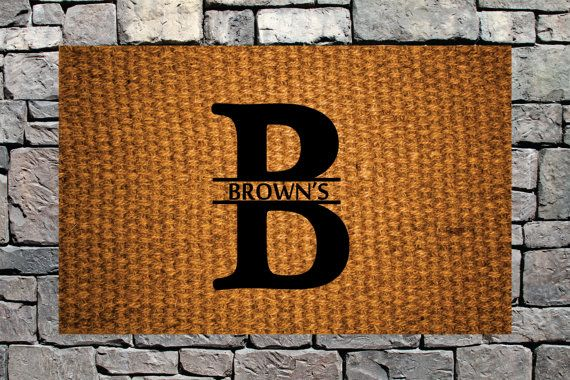 Custom DoorMat Personalized Welcome Mat Welcome Mat Natural