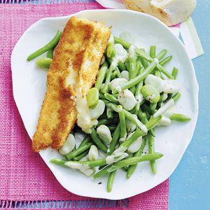 Recept - Groenebonensalade met gebakken brie - Allerhande