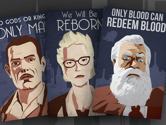 Bioshock Dictator Propaganda 3 Pack - Andrew Ryan - Sofia Lamb - Prophet Comstock