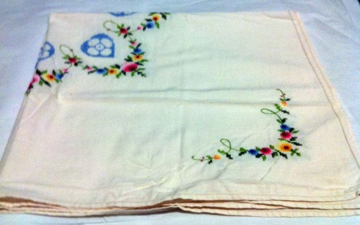 Medium size embroidered tablecloth