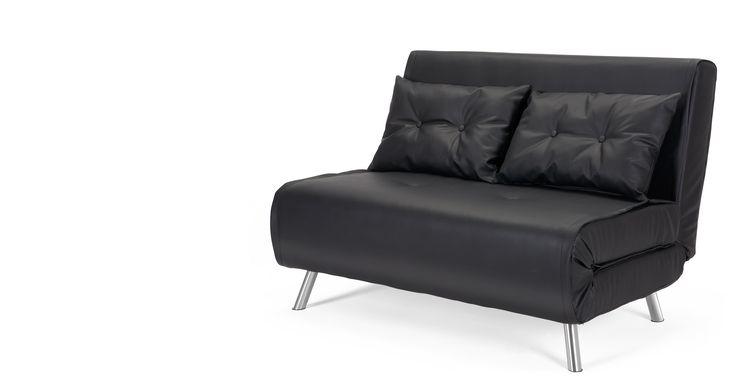 Haru Small Sofa bed, Garnet Black
