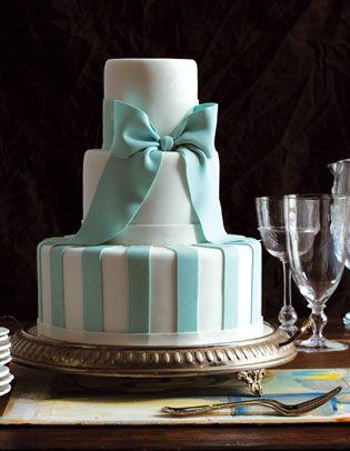 Tiffany coloured wedding Cake