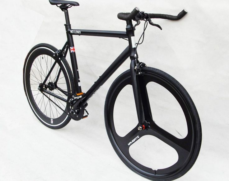 fixed gear bike black rims | No Logo Bikes 2015 Single Speed/Fixed Gear Bike Black w ...