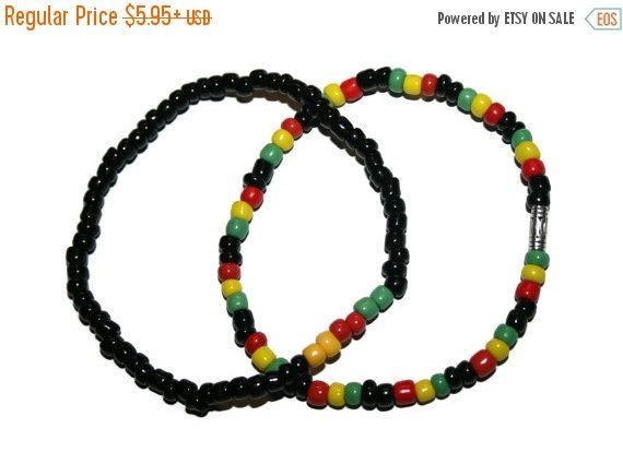 Jamaican Bracelets African Bracelet Rastafarian Jewelry Rasta Colors Island Jewelry Jamaica Jewelry Rasta Jewelry Jamaican Colors Rasta Gift