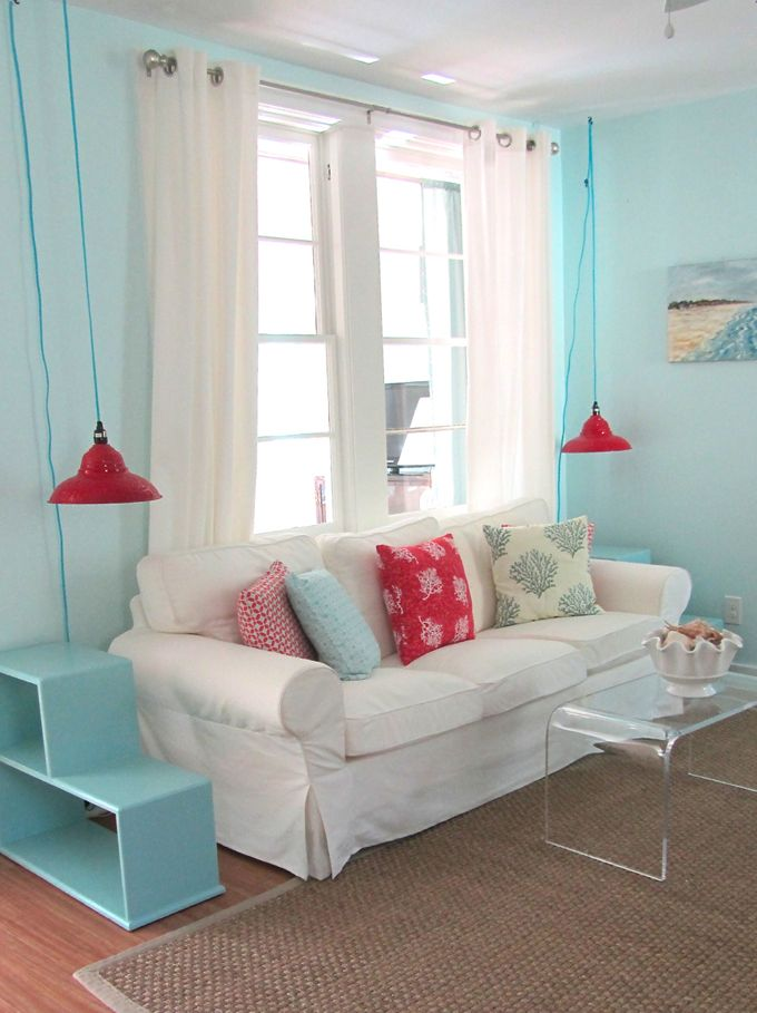 House Of Turquoise Jane Coslick Blue Living RoomsHouse