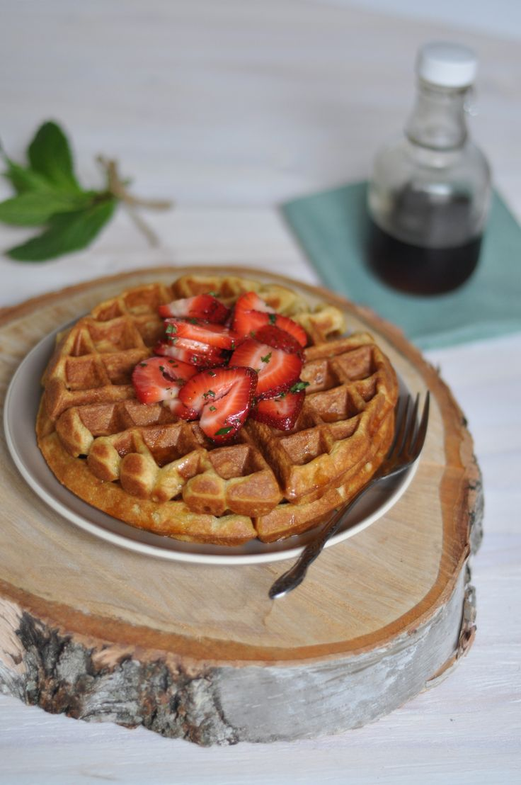 Cardamom and Nutmeg Waffles with Minted Strawberries! Oh My!Waffles ...