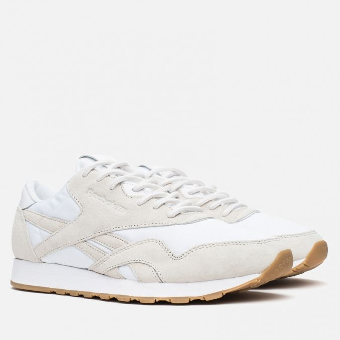 Кроссовки Reebok x Maison Kitsune CL Nylon Arctic Fox Kit White/Chalk/Gum фото- 1