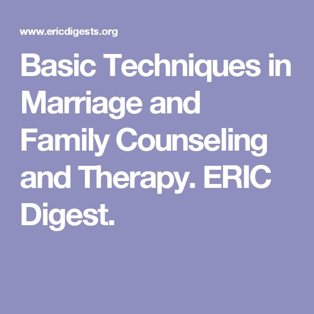Basic Techniques in Marriage and Family Counseling and Therapy. ERIC Digest.