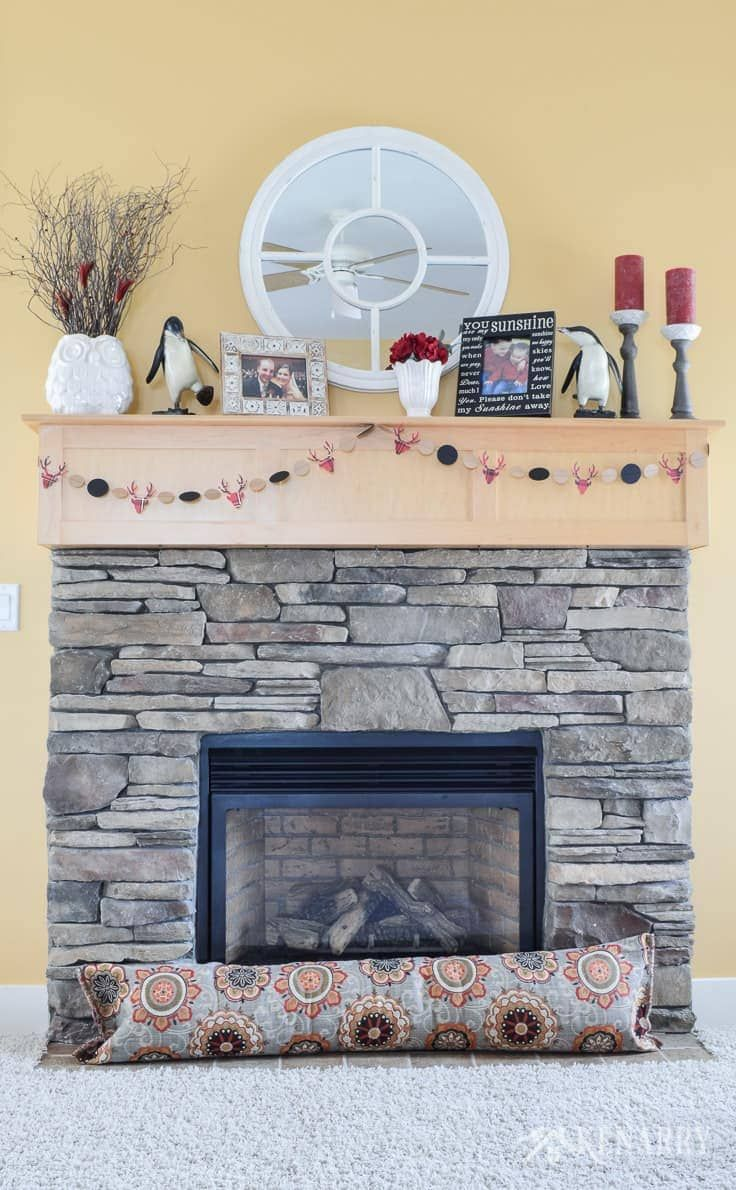 Insulated Decorative Magnetic Fireplace Draft Stoppers To Cover A