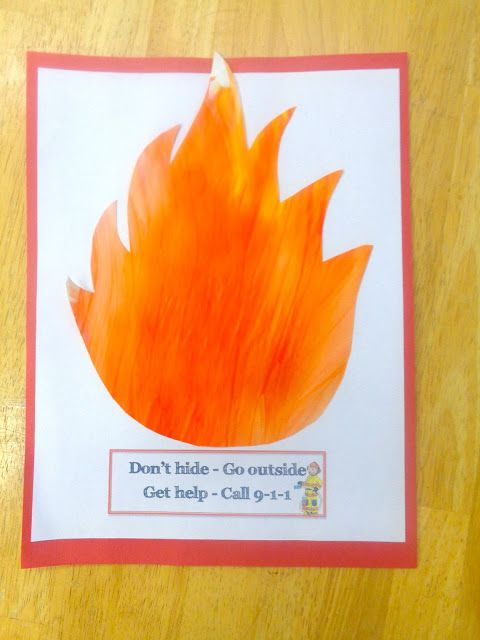 fire safety craft- fire craft Terrific Preschool Years