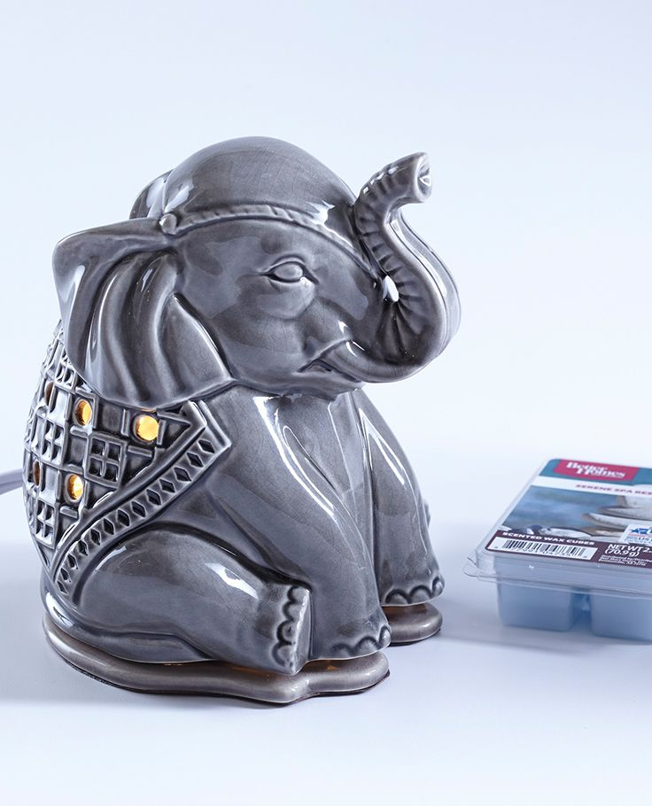 The cutest little elephant wax warmer we ever did see. Perfect for the bathroom and beyond.