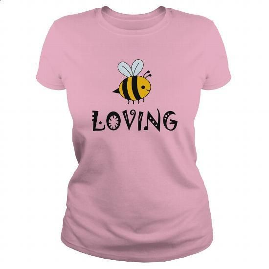 Bee Loving - #long sleeve shirt #mens dress shirt. CHECK PRICE => https://www.sunfrog.com/LifeStyle/Bee-Loving-Light-Pink-Ladies.html?60505