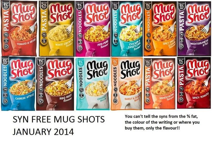 Slimming world syn free mug shots jan 2014