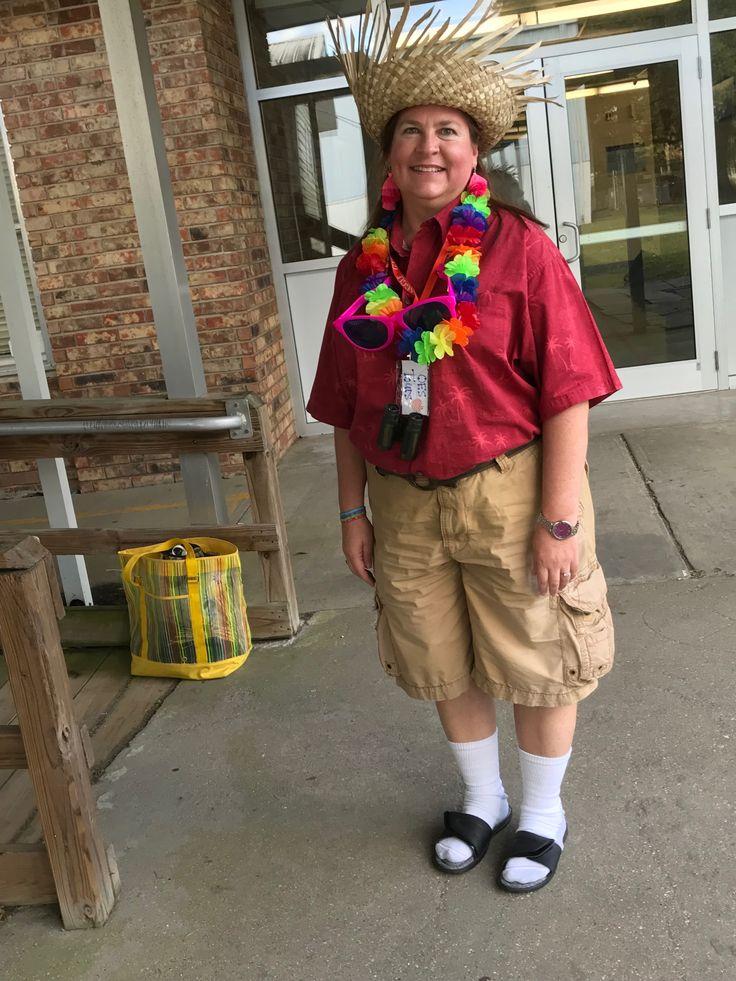 Tacky tourist homemade costume