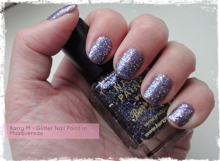 Barry M Glitter Nail Paint in Masquerade - review by Beauty Best Friend
