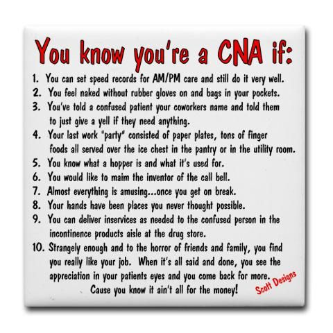 CNA Jokes | You're A CNA if... Humor Tile Coaster by ...
