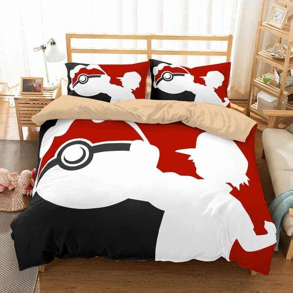 3d Customize Pokemon Bedding Set Duvet, Pokemon Bedding Queen Size