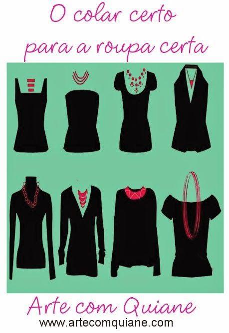 ARTE COM QUIANE - Paps,Moldes,E.V.A,Feltro,Costuras,Fofuchas 3D: o colar certo para a roupa certa