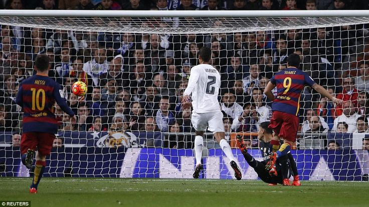 Suarez delightfully lifts the ball over Real keeper Navas to make it 4-0 and extinguish any hope of a comeback in Madrid