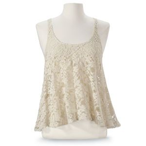 Lace Angled Top