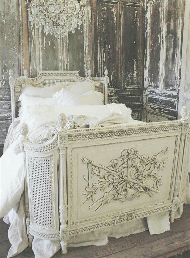 25 best ideas about shabby chic bed frame on pinterest - French shabby chic bedroom furniture ...