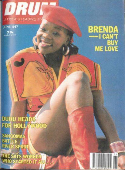 Historic Drum magazine cover with Brenda Fassie