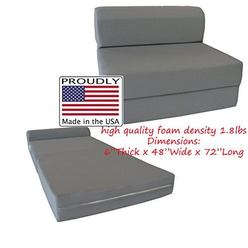 Gray Sleeper Chair Folding Foam Bed 6 X 48 72 Inches Studio Guest Beds Sofa You Can Get Additional Details At The Image Link It Is An Affilia