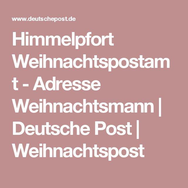 Himmelpfort Weihnachtspostamt - Adresse Weihnachtsmann | Deutsche Post | Weihnachtspost