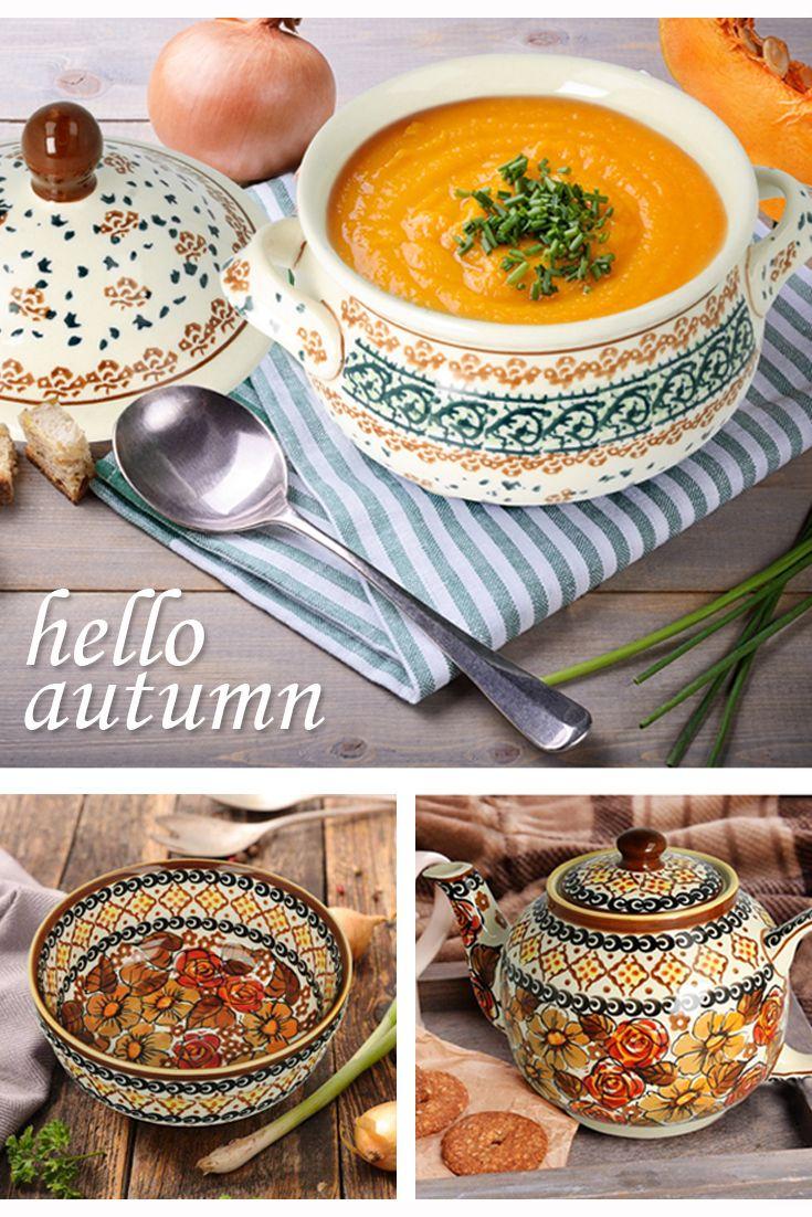 Hello autumn! Boleslawiec pottery.