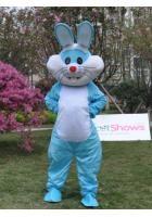 ブルー ウサギ着ぐるみ 手作り着ぐるみ通販http://www.mascotshows.jp/product/rabbit-mascot-adult-costume12.html